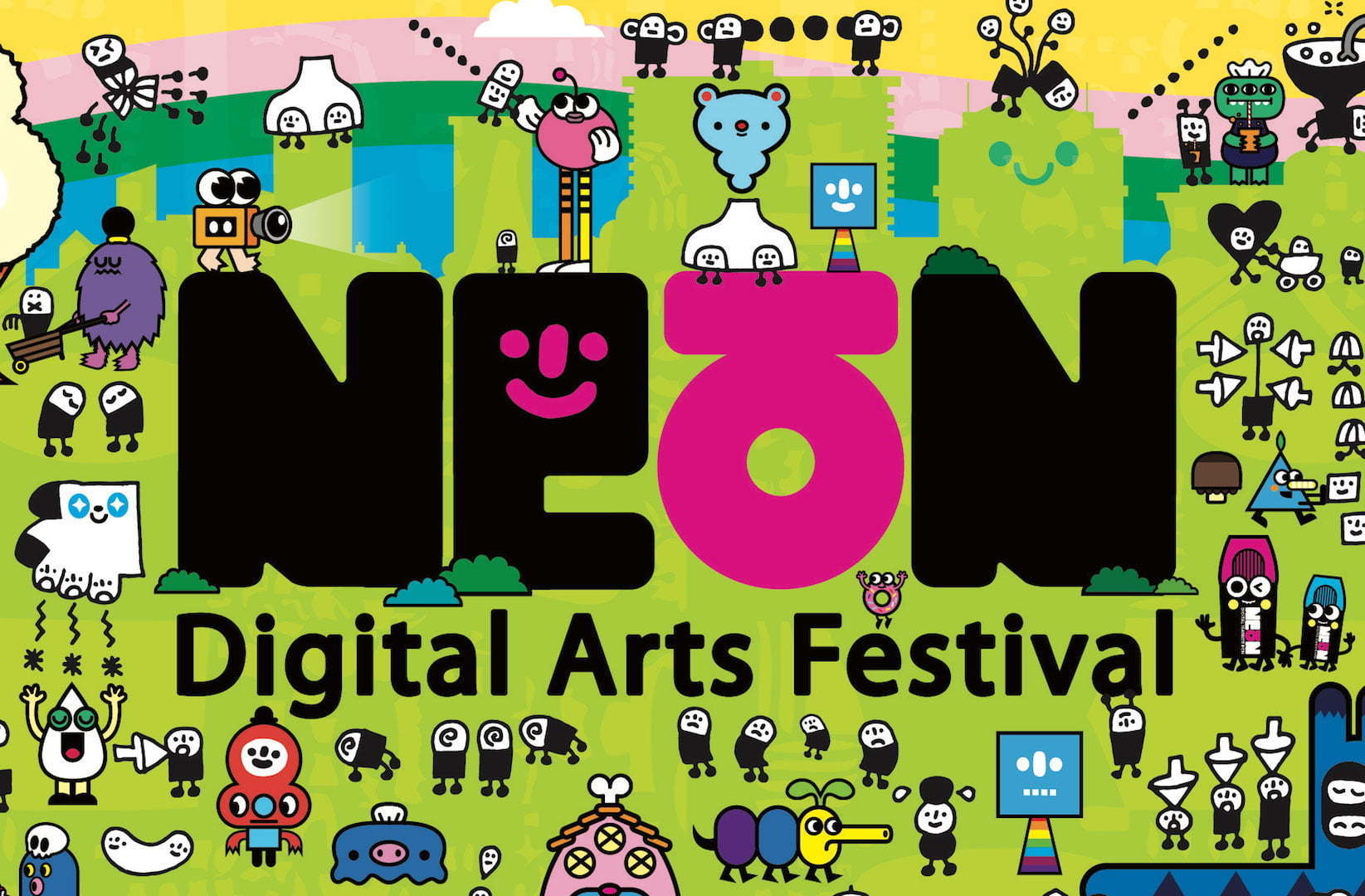 Image: NEoN Logo with Pictoplasma characters