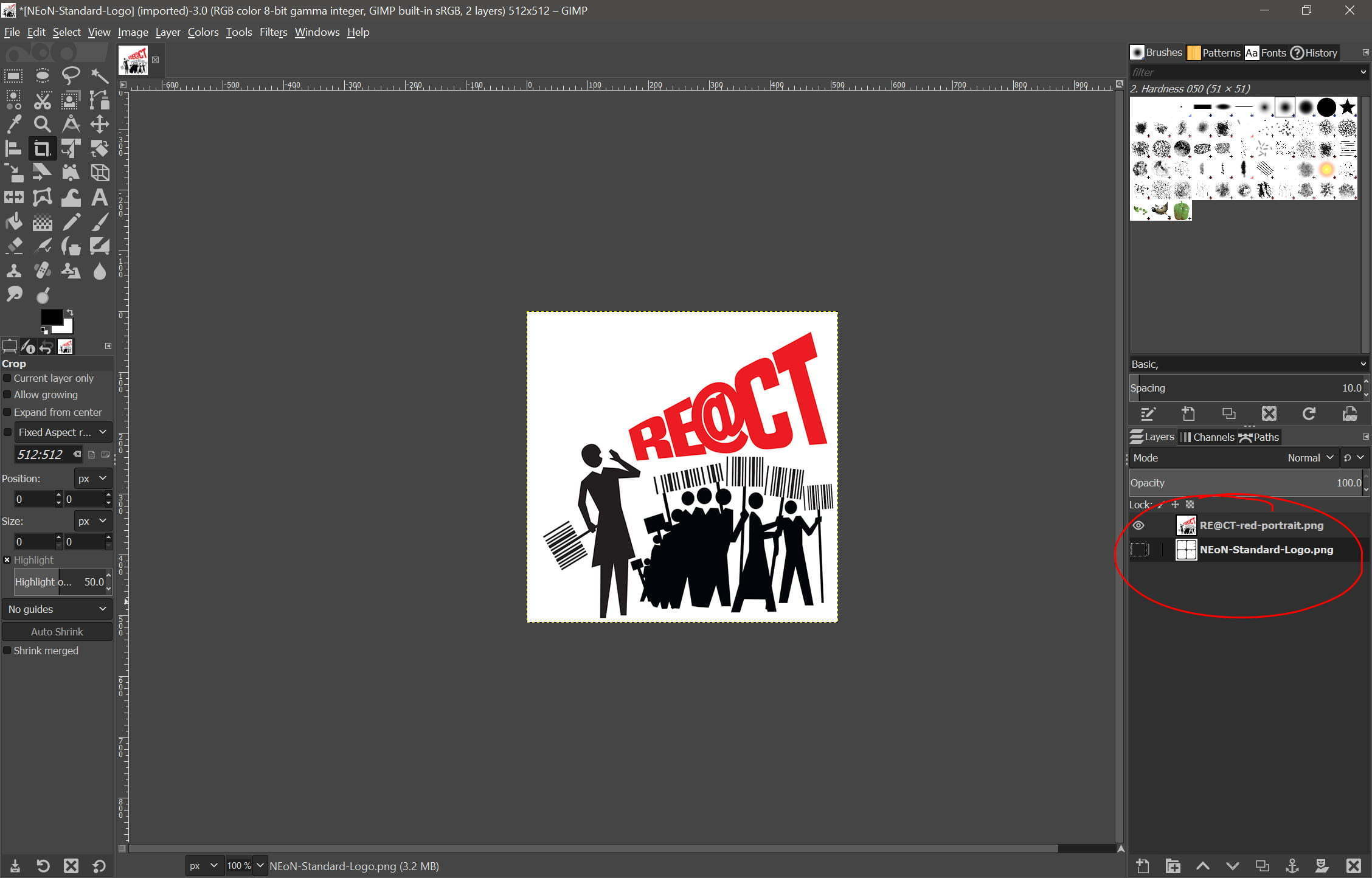 How to make a GIF using GIMP software -