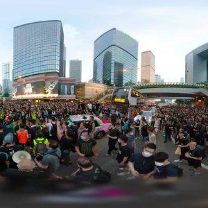 360° Image of Hong Kong Riot