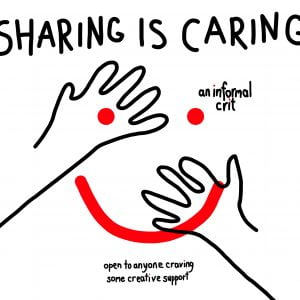 sharing is caring poster