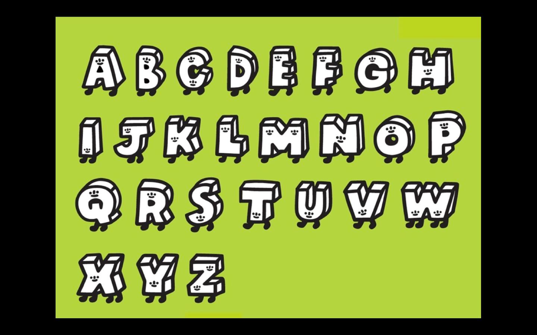 Aki alphabet letters (2015)