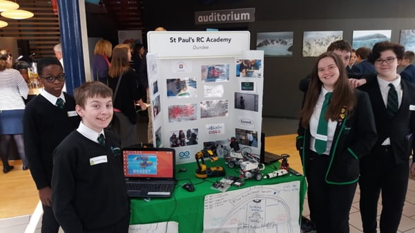 Image: St Paul's Academy pupils showcasing their Computing Department.