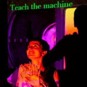 Image of Libby Odai with the text Teach the machine.